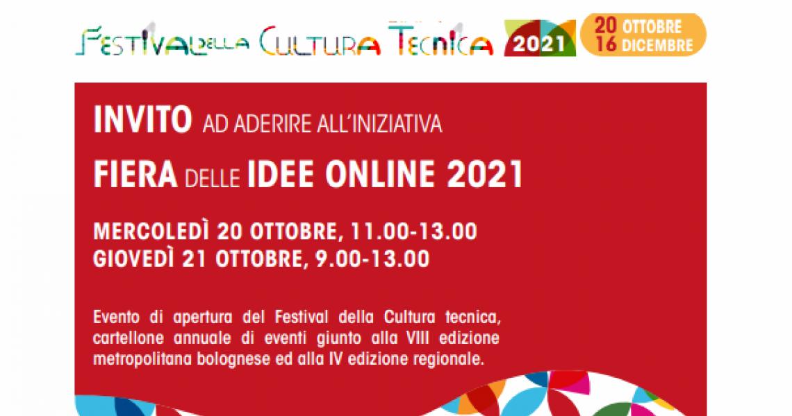 FIERA DELLE IDEE ONLINE 2021 – 20 e 21 ottobre