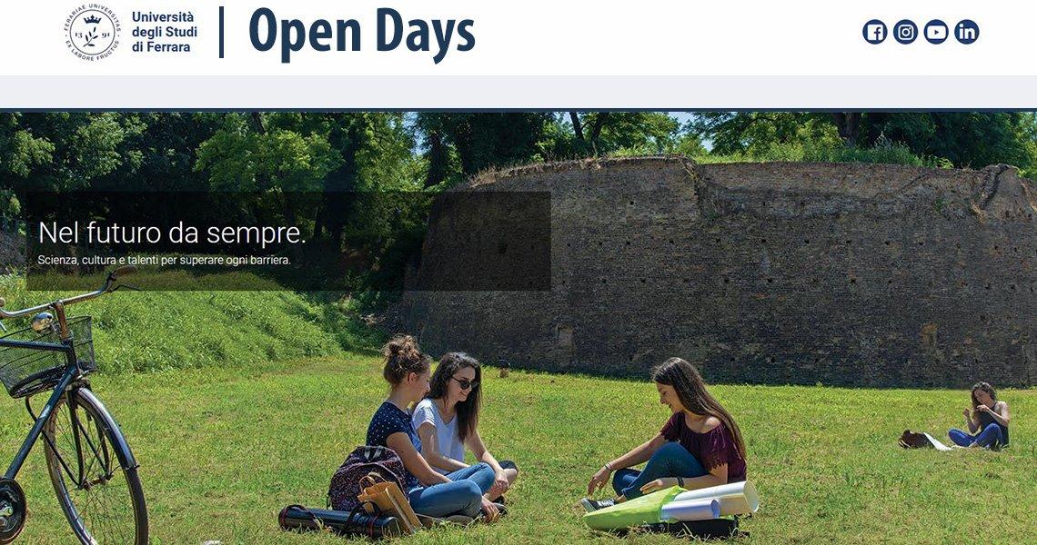 Open day virtuali   L'Università di Ferrara si presenta